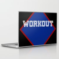workout Laptop & iPad Skins featuring WORKOUT by Gravityx9