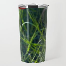 Red Poppies on the summer meadow Travel Mug