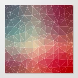Abstract Geometric Triangulated Design Canvas Print