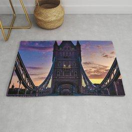 London Tower Bridge at Sunset Rug