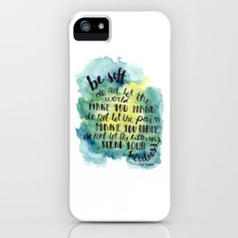 Be Soft iPhone Case