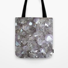 Sparkling Clear Light Purple Amethyst Crystal Stone Tote Bag