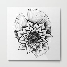 Lotus Lovely Metal Print