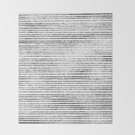 Black Stripes II Throw Blanket