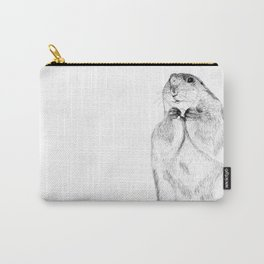 Hand drawn Black tailed prairie dog Carry-All Pouch