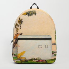 Historical Vintage Hand Drawn Illustration of Guyana South America Natural Scenes Backpack