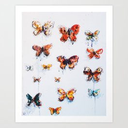 Butterflies V2 Art Print