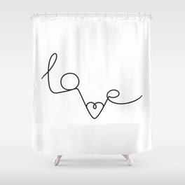 Woman & LoveMe Shower Curtain