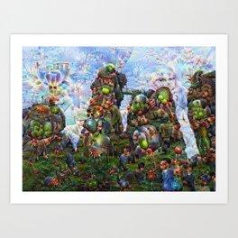 DeepDream Pictures, Rocks Art Print