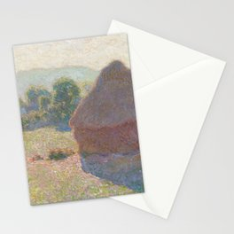 Haystacks, Midday by Claude Monet Stationery Cards