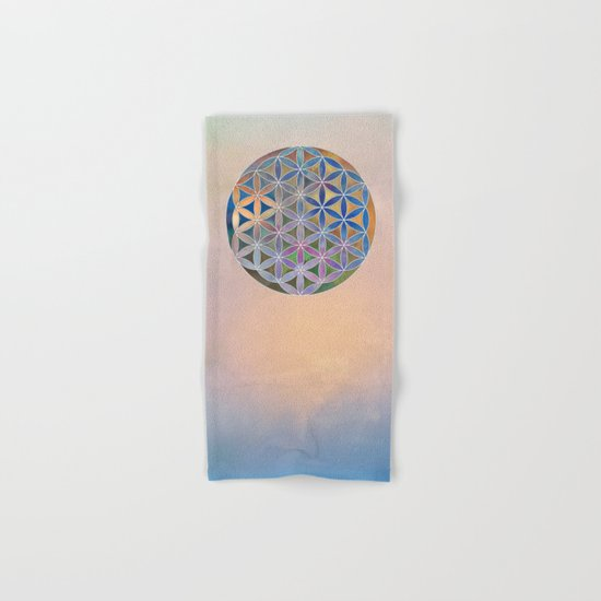 The Flower of Life in the Sky Hand & Bath Towel