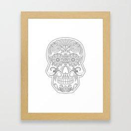 Color Me Day of the Dead Skull Framed Art Print