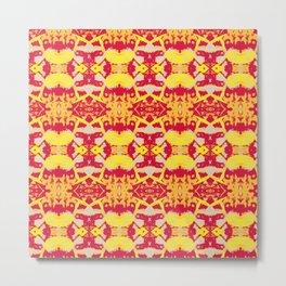 abstract red-orange-yellow pattern Metal Print
