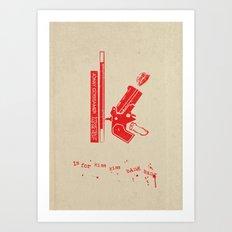 K is for Kiss Kiss Bang Bang Art Print