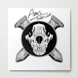 Amos Fortune Logo Metal Print