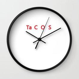 I Eat Tacos Periodically Funny Science Wall Clock