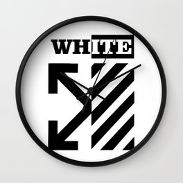 X Off White Wall Clock