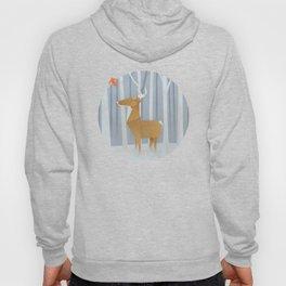 Origami deer in the Woods Hoody