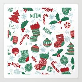 Christmas Pattern 05 Art Print