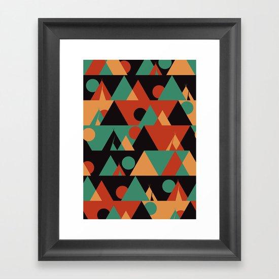 The sun phase Framed Art Print