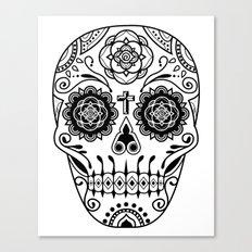 Deco Sugar Skull 2 Canvas Print