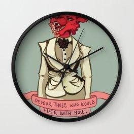 Monster Lady Advice Wall Clock