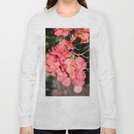 Hot Coral Floral Long Sleeve T-shirt