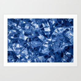 Crushed ice background Art Print