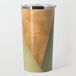 Golden Triangle With Green and Cream Travel Mug