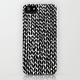 Hand Knitted Black S iPhone Case
