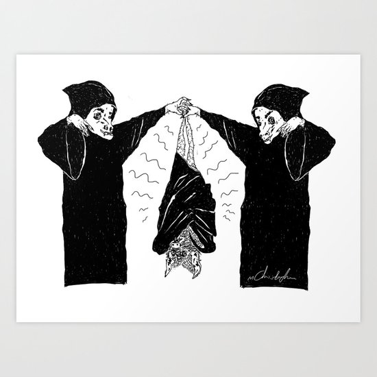 HANG BAT Art Print