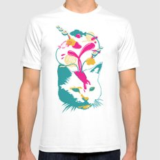 Liquid thoughts:Cat Mens Fitted Tee White MEDIUM