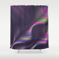 novelty Shower Curtains featuring Novelty Waves 2 by Mario De Meyer