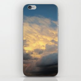 Angry Skies, Sad Goodbyes iPhone Skin