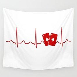 POKER HEARTBEAT Wall Tapestry