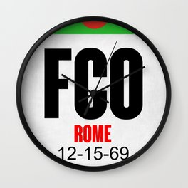 FCO Rome Luggage Tag 1 Wall Clock