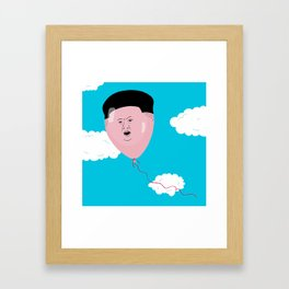 Kim Jong-Ball-Un Framed Art Print