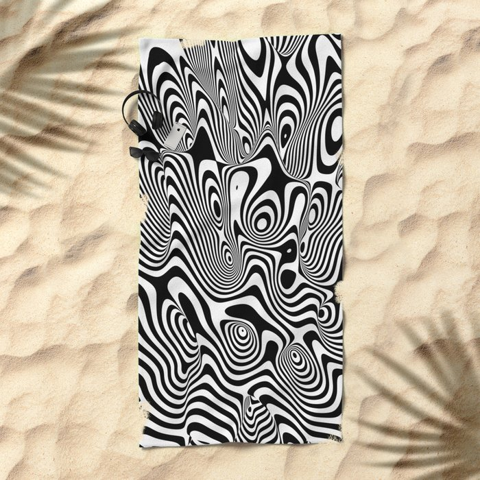 Trippy Background Beach Towel