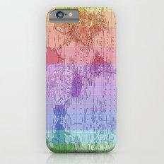 Rainbow World Map II iPhone 6s Slim Case