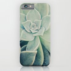 Botanical -- Jade, Mother-of-pearl, Ghost Plant Leaves Slim Case iPhone 6s