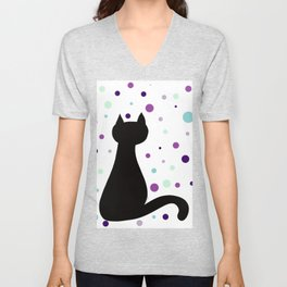 Black Cat Party! Unisex V-Neck