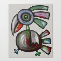 parrot Canvas Prints featuring Parrot by Rudolf Brancovsky