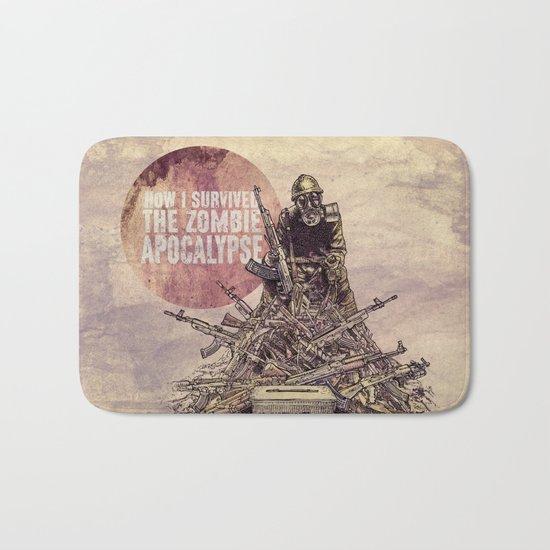 How I Survived The Zombie Apocalypse Bath Mat