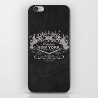 sin city iPhone & iPod Skins featuring Sin City (Black) by Gusto NYC