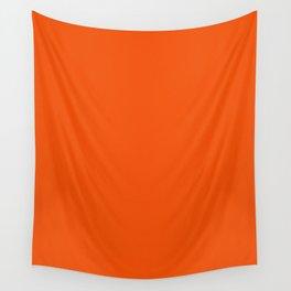 Dark Orange Pixel Dust Wall Tapestry