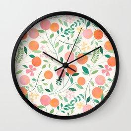 Vanilla Peaches Wall Clock