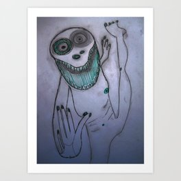Dancing frog Art Print