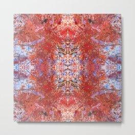 Abstract Fall Mandala 1566 Metal Print
