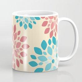 Flower Flurries Beige Coffee Mug