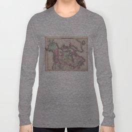 Vintage Map of Canada (1857) Long Sleeve T-shirt